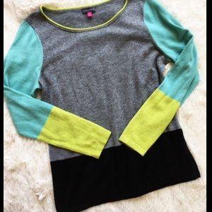 Vince Canute colorblock sweater